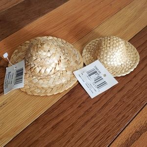 Dollhouse furniture doll hats straw woven hats